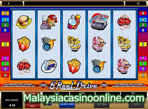 5-轴驱动 (5-Reel Drive Slot)