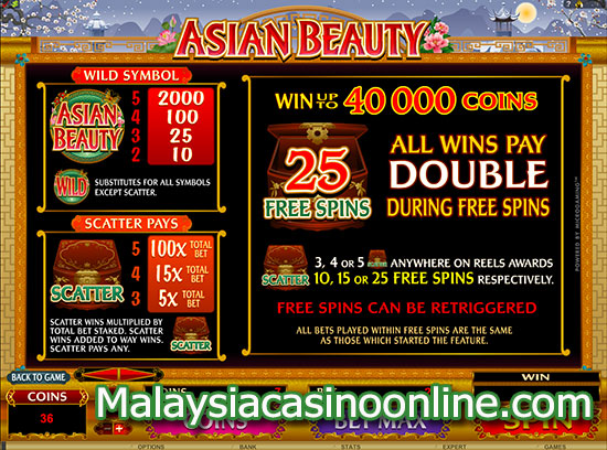 亚洲美人 (Asian Beauty Slot) - Free Spins Bonus