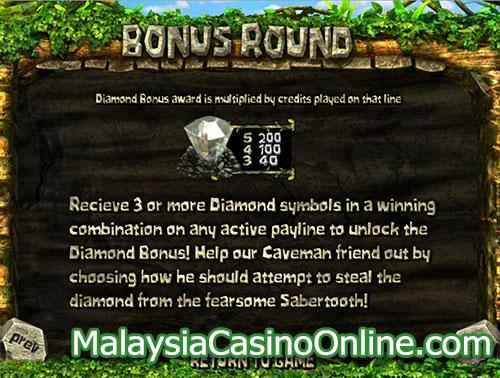 公元前200万年老虎机 (2 Million BC Slot) - Bonus Round