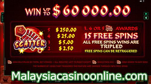 舞龙老虎机 (Dragon Dance Slot) - Free Spins Bonus