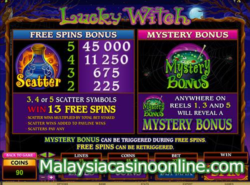 幸运女巫老虎机 (Lucky Witch Slot) - Bonus