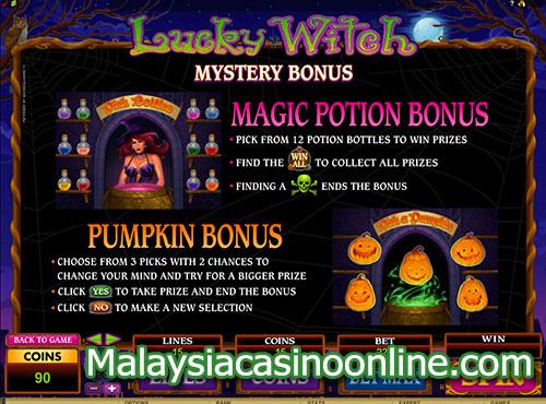 幸运女巫老虎机 (Lucky Witch Slot) - Mystery Bonus