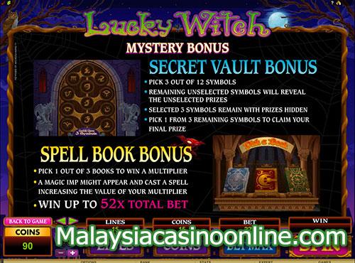 幸运女巫老虎机 (Lucky Witch Video Slot) - Mystery Bonus