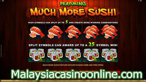 丰富的寿司老虎机 (So Much Sushi Slot) Much More Sushi